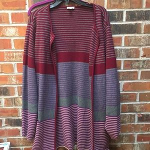NWOT Talbots open front striped cardigan